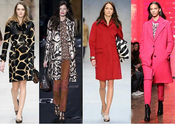 мода плащи, палто осень 2013-2014 фото