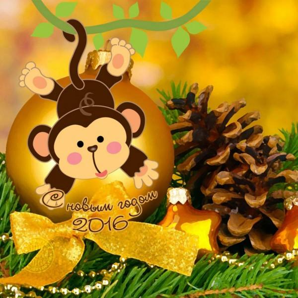 новогодние открытки 2016
